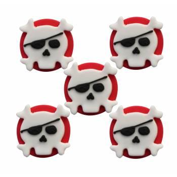 5 Mini-zuker figuren Totenkopf