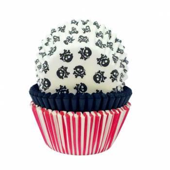 75 backförmchen Cupcakes Piraten