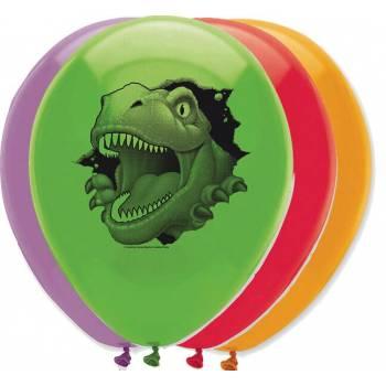 6 Ballons Latex Dinosaurier