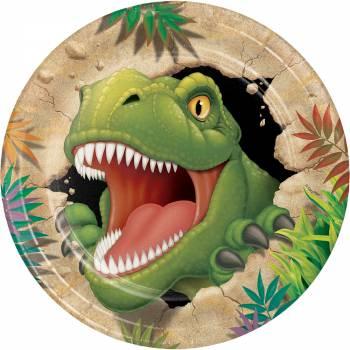8 Dinosaurier Teller