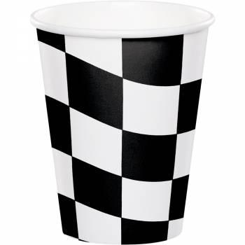 8 Papierbecher Racing party