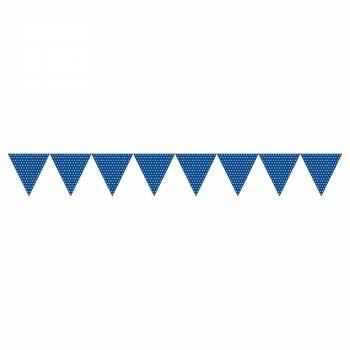 Blaue Polka Wimpelgirland