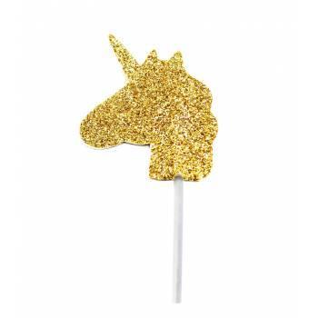 12 Pics deko cupcakes glitzerte einhorn gold