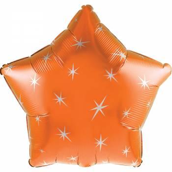 Helium luftballon Stern orange