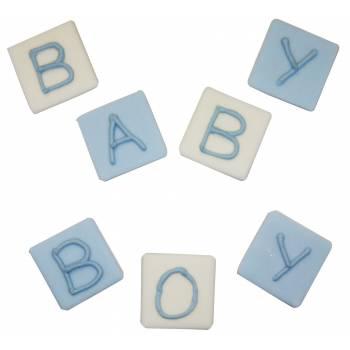 Spielzeuge Würfel in Zucker baby blau
