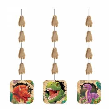 3 girlanden Dinosaurier