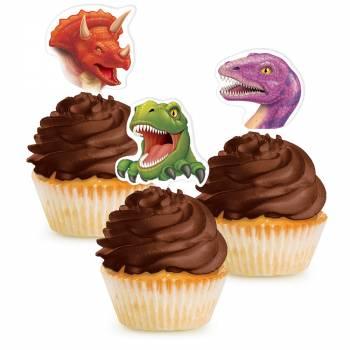 12 Pics deko Dinosaurier cupcakes
