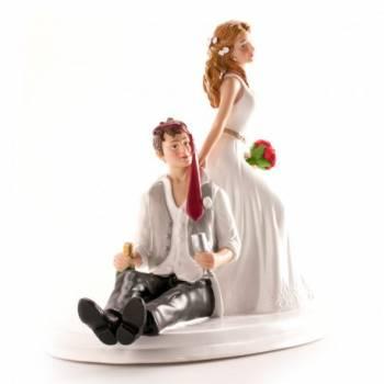 des Brautpaares Sabull figur für Hochzeitstorte 14 cm