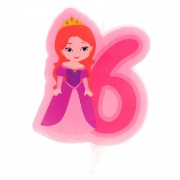 Kerze Nr. 6 Prinzessin
