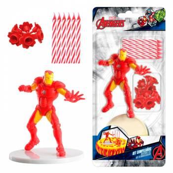 Kuchen-Set Iron man Kerzen