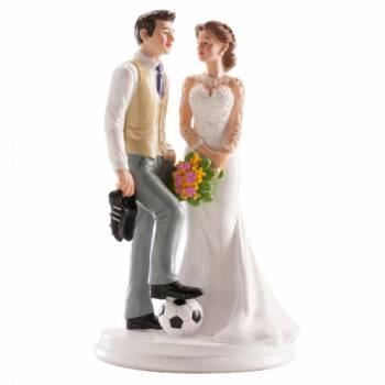 Bräutigam Fußball figur für Hochzeitstorte 18 cm