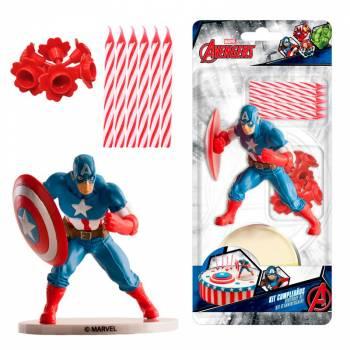 Deco-Set für den Pvc-Kuchen Captain America