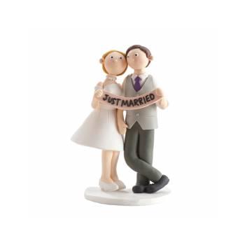 Just Married figur für Hochzeitstorte 14 cm