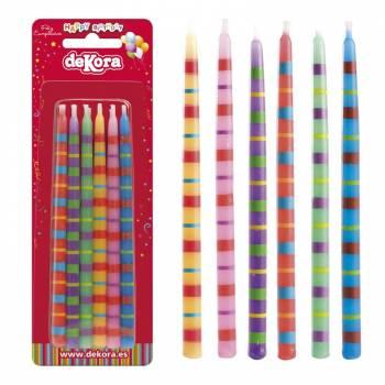 12 Kerzen-Sticks Funny 13 cm