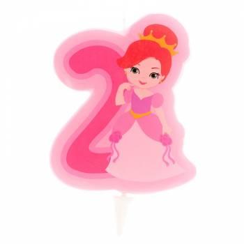 Prinzessin Kerze Ziffer 2