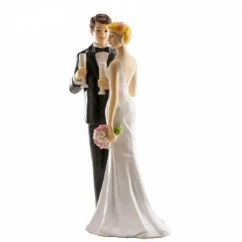 Champagner figuren für Hochzeitstorte 16 cm