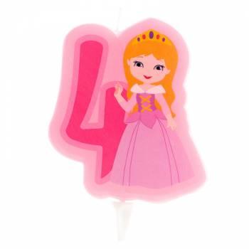Prinzessin Kerze Ziffer 4