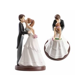 Bräutigam kuss figur für Hochzeitstorte 16 cm