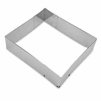 Rechteckiges, verstellbares Konditoreirahmen H 7 cm