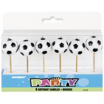 6 Kerze Pics Fußball für Kuchen