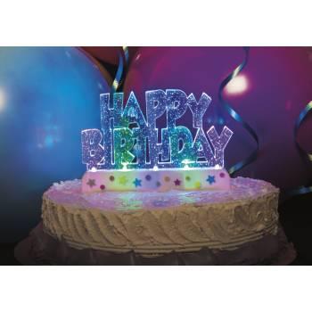 LED Happy Birthday Dekor