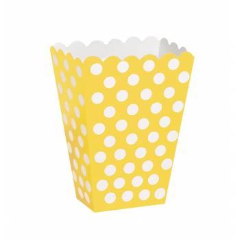 8 Pop-corn boxen Gelbe mit tupfen