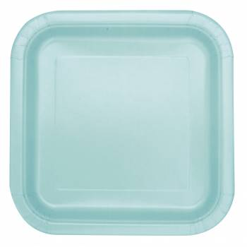 14 Quadratische Teller mint
