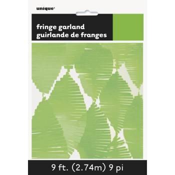Guirland Fransen aus anisgrüner Papier
