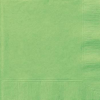 20 Servietten grün lime