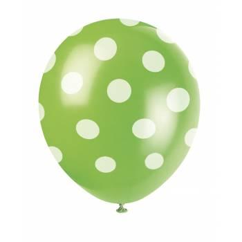 6 LuftBallons grünen mit Tupfen