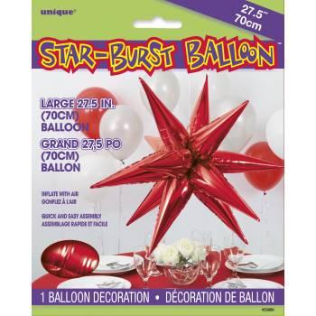 Luftballon Jumbo-Stern rot