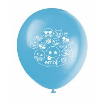 8 Emoji Latex Ballons