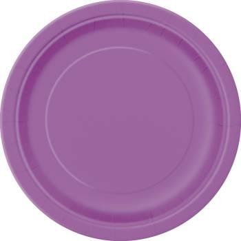 20 Dessert-Teller runden Karton violett
