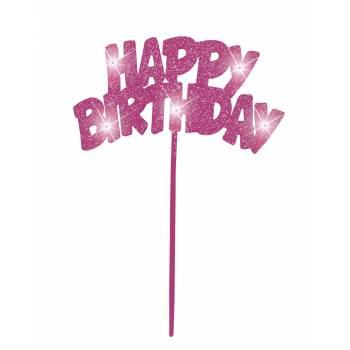 Hellen Cake Topper Happy Birthday rosa