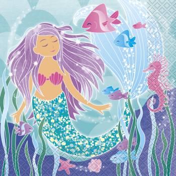 16 Handtücher Meerjungfrau