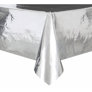 Tischtuch aus glänzendem Silber