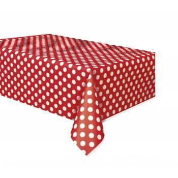 Tischtuch Rot Rechteck mit Tupfen