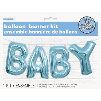 Luftballon Baby blau