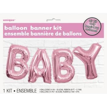 Luftballon Baby rosa