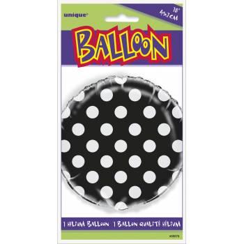 Helium luftballon Schwarz mit tupfen