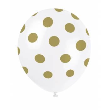 6 luftballon mit gepunkteten und gepunkteten luftballonn