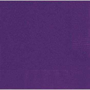 20 Servietten dunkel violett