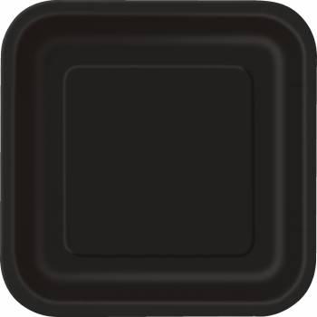 14 Teller viereckig schwarz