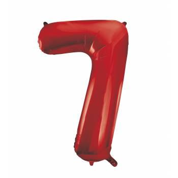 Riesiger Luftballon Ziffer 7 Rot