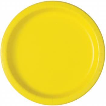 20 Dessert-Teller fluo gelb