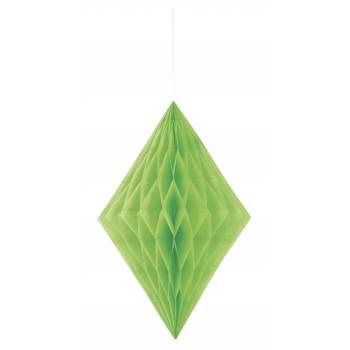 Aufhängung Diamant Papier grün lime