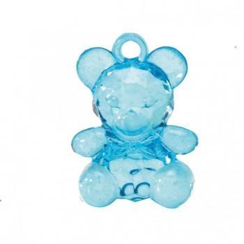 10 blaue Bärenanhänger