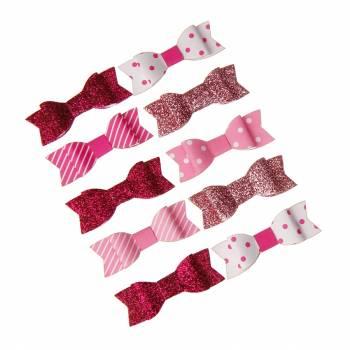 10 Knoten rosa und weiß aufkleber