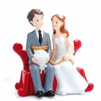 Verheiratete Figur Sofa rot