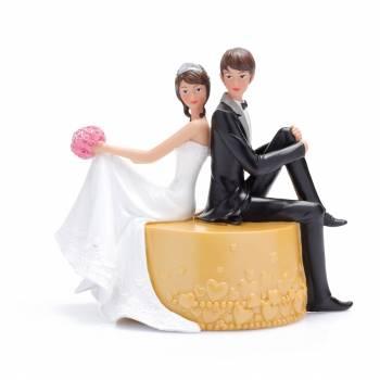 Verheiratete Figur sitzend
